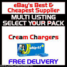 Whipped Cream Chargers 1/4L Dispensers NOS N2O Nitrous Oxide Canisters 8g