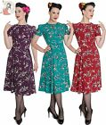 HELL BUNNY 40s retro BIRDY wartime landgirl DRESS