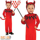 Cute Red Devil Toddler Age 1 2 3 Years Halloween Fancy Dress Childs Kids Costume
