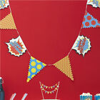 Ginger Ray Superhero, Spiderman, Batman Birthday Party Bunting, Banner 3.5m