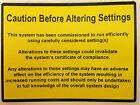 Caution Before Altering Setings Safety Labels, Electrical, Solar, Boilers