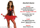 SEXY light UP LED DEVIL GIRL HALLOWEEN deluxe corset style Costume SPECIAL