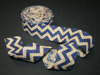 "1-1/2"" BURLAP CHEVRON RIBBON CRAFT BABY SHOWER WEDDING GIFT BOW WREATH - 5 YDS."