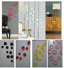vivid 12pcs 3D Wall Sticker flower design Home Decor Room Decoration Stickers