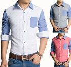Z6229 New Men's Button fashion Polka Dot Stylish Casual Slim Fit Dress Shirts