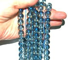 Mystic Celestial Blue Aura Quartz Crystal Round Beads 12mm Choose Quantity