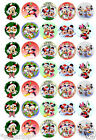 MICKEY & MINNIE MOUSE CHRISTMAS - 35  x Edible Decorations Cup Cake Toppers-