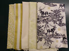 Festive Reindeers Stag Woodland Snowflakes 100% Cotton Fabric FAT QUARTER BUNDLE