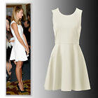 New Forever New off white fit and flare knit skater dress