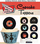 50s Rock and Roll EDIBLE RECORDS party 15 Cupcake Toppers PRECUT cup cake