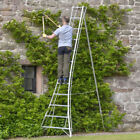 Standard Garden Tripod Ladder - Single Adjustable Back Leg - Aluminium