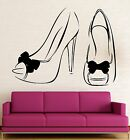 Wall Stickers Shoes for Women Girls Fashion Style Vinyl Decal (ig2436)