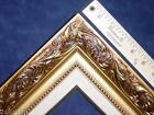 3.25 Classic Gold Linen Liner Ornate Wood Pictur Frame Wedding Frames4art 1216GL