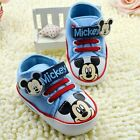 Baby Boys Mickey Mouse Baby Blue  Disney Casual Shoe Pre Walker Shoe