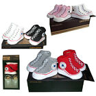 CONVERSE ALL STAR BABY INFANT SLIP ON SOCK BOOTIES GIFT BOXED 2 PAIRS 0-6 MONTHS