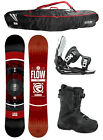 2015 FLOW MERC Black 159cm WIDE Snowboard+Flow Bindings+Flow BOA Boots+FLOW BAG