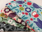 CT Birds & Flowers - Japanese 100% Cotton Canvas Fabric Curtains Upholstery