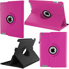 360 Rotating PU Leather Folio Case Cover Stand For Apple iPad 2 3 4 Air Mini Pro