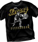 Kris Letang Pittsburgh Penguins Adult Size T - Shirt Black