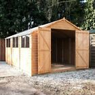 15x10 WOODEN SHED DOUBLE DOOR BRAND NEW UN USED GARDEN BUILDING 15ftx10ft SHEDS