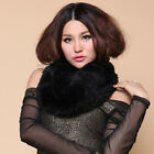 Knitted Real Rex Rabbit Fur Scarf Wrap Stole