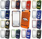 For iPhone 6 Plus 6S Plus License NFL Football Hard Soft Rubber Defender Case