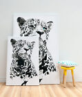 Modern Leopard Canvas Print Abstract Canvas Art Vintage Wall Art 3 Large Sizes