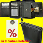 Wallet With Wrap-Around Zip Secret Compartment Viennese Case Leather