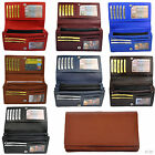 Ladies' - Wallet With 19 Compartments in Fine Leather / Wallet