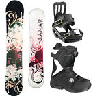 2014 Lamar ROSE 144 Womens Snowboard+Salomon Bindings+FLOW Vega BOA Boots NEW
