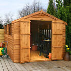 12x8 WOODEN SHED DOUBLE DOOR BRAND NEW UN USED GARDEN BUILDING 12ft x 8ft SHEDS