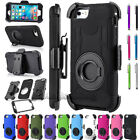 RUGGED ARMORED HYBRID CASE COVER CLIP HOLSTER FOR SAMSUNG GALAXY PHONES + FILM