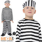 Prisoner Boy Fancy Dress Childs Convict Robber Uniform Costume Kids Outfit New