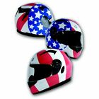 Torc T12 Red White Blue Stars Stripes Full Face Bluetooth Motorcycle Helmet