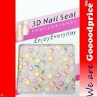 3D Nail Art Seal Beautiful Flowers Nail/Toe Stickers Pack Party&Ladies Gift NEW4