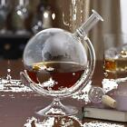 Etched Glass Globe Decanter Aerate Wine Port Decor Home Office Bar Pub Den Gift