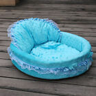 5 Colors 2 Sizes Prince Princess Cute Cozy Soft Lace Pet Beds Dog Puppy Cat GCg2
