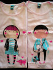 I Love Dog-Matching Cute Couple Cartoon T-Shirt -Set For Two Asian Size/Petite