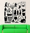 Wall Decal Cleaning Laundry Room Washing Housewife Housekeeper Vinyl (ig2546)