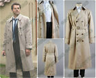 Supernatural Castiel Twill Trench Coat Cosplay Costume Outfit Business Suit Set