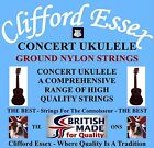 CLIFFORD ESSEX CONCERT UKULELE STRINGS. MEDIUM. C OR D TUNING. MADE IN BRITAIN.
