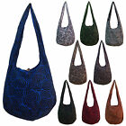 Cotton Hippy Hippie Festival School Casual Shoulder Sling Bag LARGE Many Colors