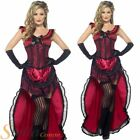 Ladies Sexy Brothel Babe Costume Can Can Wild West Western Burlesque Fancy Dress