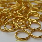 100, 200 or 400 x Gold Plated Alloy Double Loop Split Open Jump Rings *UK ONLY*
