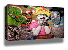 ALEC MONOPOLY MADONNA GRAFFITI STREET ART MODERN HIGH QUALITY CANVAS PRINT