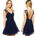 1pc Sexy Women Girl Summer Mini Dress Halter Lace Prom Party Evening Dress