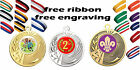 50mm Metal Medal. Free Engraving Free Ribbon Free UK Postage Kids Party Parties