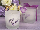 Sweet 16 Birthday Glass Pink Purple Silver Glitter Tealight Candle Party Favor