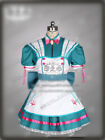 Alice: Madness Returns Rock and Roll Skull Cosplay Costume Green Dress Free Ship