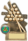 Pool Trophy Snooker Frame and Cue Award Free Engraving